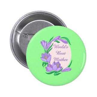 World s Best Mom Mother Customizable Gifts Buttons
