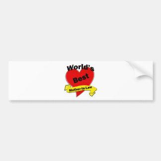 World s Best Mother-In-Law Bumper Sticker