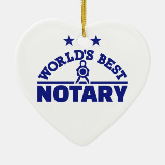 World's best notary ceramic ornament