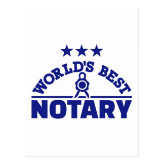 World's best notary postcard