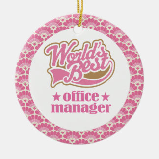 World's Best Office Manager Gift Ornament
