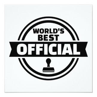 World's best official card