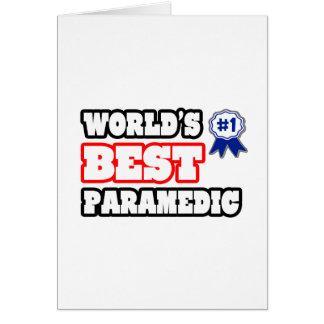 World s Best Paramedic Card