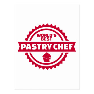 World's best pastry chef postcard