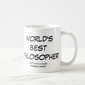 World s Best Philosopher left-hand large mug