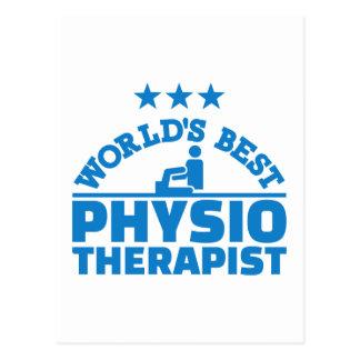 World's best physiotherapist postcard