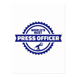 World's best press officer postcard