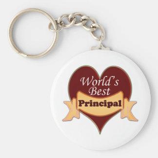 World s Best Principal Keychain