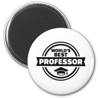 World's best professor 2 inch round magnet