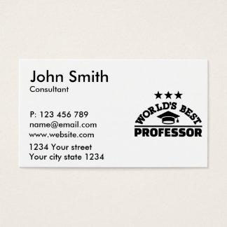 World's best professor business card