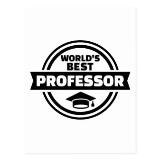 World's best professor postcard