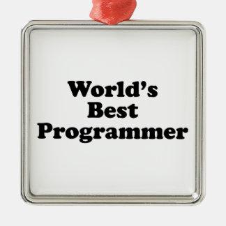 World s Best Programmer Christmas Ornament