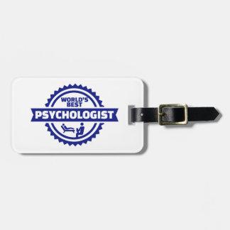 World's best psychologist bag tag