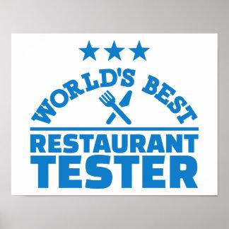 World's best restaurant tester poster