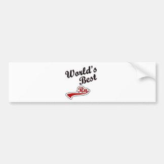 World s Best RN Bumper Stickers