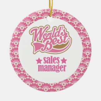 World's Best Sales Manager Gift Ornament