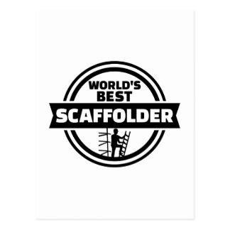 World's best scaffolder postcard