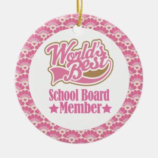 World's Best School Board Member Gift Ornament