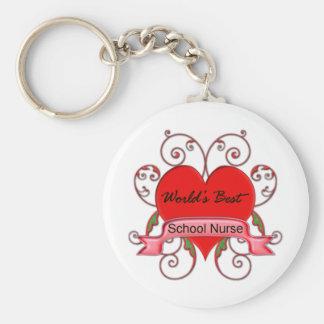 World s Best School Nurse Key Chains