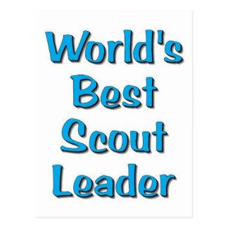 World s best Scout Leader merchandise Postcards