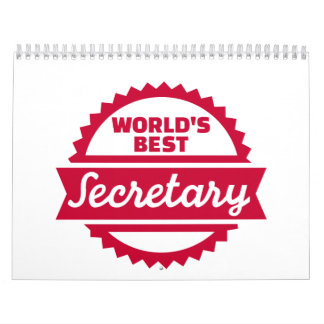 World's best secretary calendar