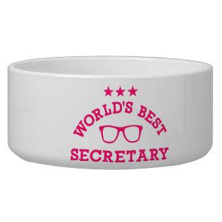 World's best secretary dog bowl