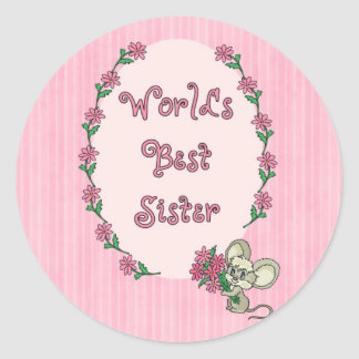 World s Best Sister Stickers