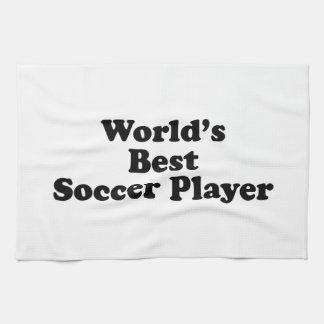 World s Best Soccer Player Kitchen Towels