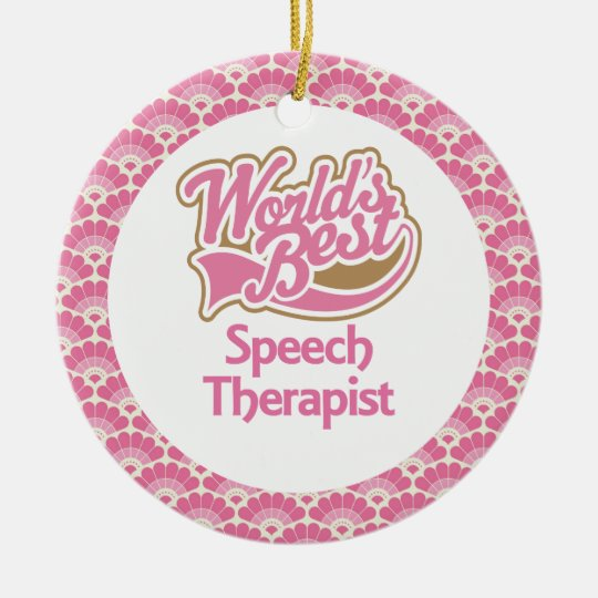 World's Best Speech Therapist Gift Ornament