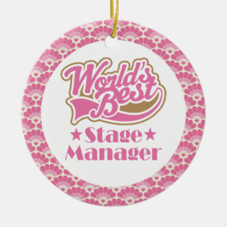 World's Best Stage Manager Gift Ornament
