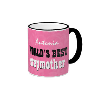 World s Best STEPMOTHER Pink V24B1C Mugs
