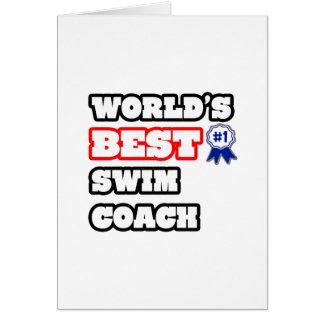 World s Best Swim Coach Greeting Card