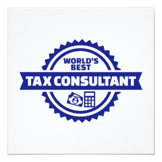 World's best tax consultant card