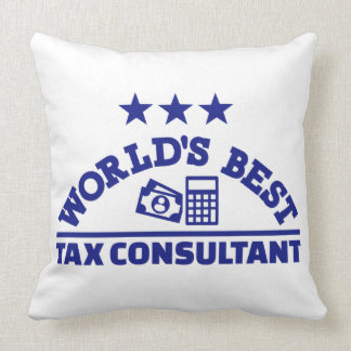 World's best tax consultant throw pillow