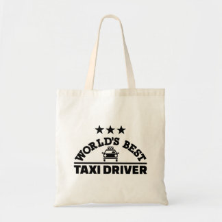 World's best taxi driver tote bag