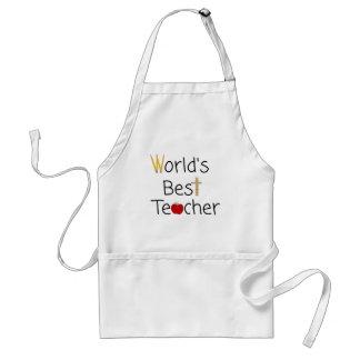 World's Best Teacher Cool School Supplies Adult Apron