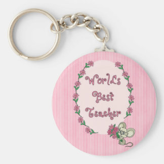 World s Best Teacher Tees and GIfts Keychains
