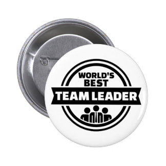 World's best team leader button