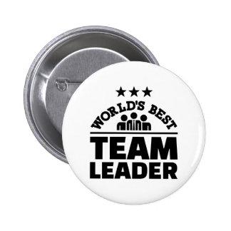 World's best team leader pinback button