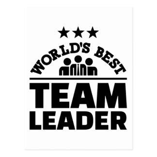 World's best team leader postcard