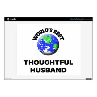 """World s Best Thoughtful Husband 14"""" Laptop Decal"""