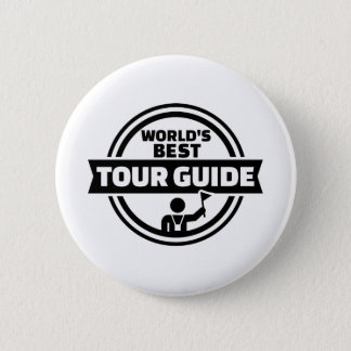 World's best tour guide pinback button