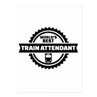 World's best train attendant postcard