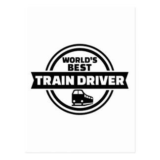 World's best train driver postcard