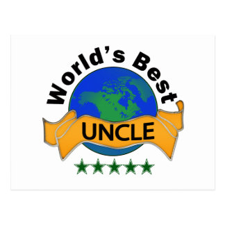 World s Best Uncle Postcard