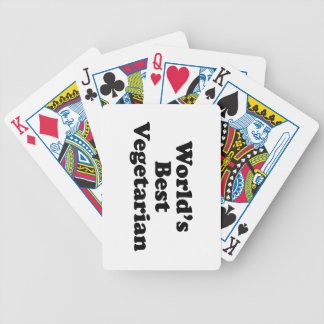 World s Best Vegetarian Playing Cards