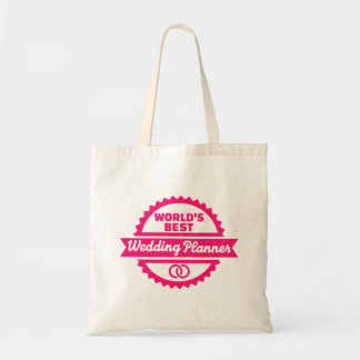 World's best wedding planner tote bag