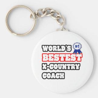 World s Bestest X-Country Coach Keychain