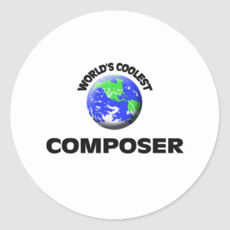 World s Coolest Composer Round Stickers