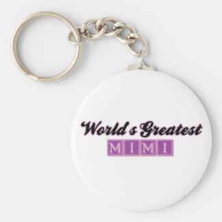 World' s el Mimi más grande (púrpura) Llavero